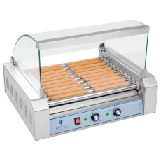 Rolkowy opiekacz parówek - 11 rolek<br />model: 10010483<br />producent: Royal Catering