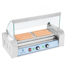 Rolkowy opiekacz parówek - 5 rolek<br />model: 10010477<br />producent: Royal Catering