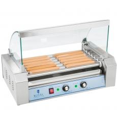 Rolkowy opiekacz parówek - 7 rolek<br />model: 10010479<br />producent: Royal Catering