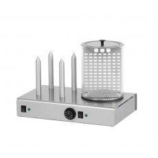 Urządzenie do hot-dogów 4-bolcowe z pojemnikiem HD-4N<br />model: 00000393<br />producent: Redfox