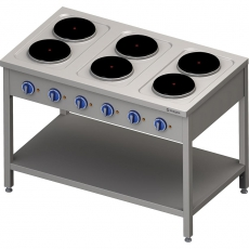 Kuchnia gastronomiczna elektryczna 6-płytowa<br />model: 979600<br />producent: Stalgast
