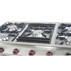 Kuchnia gastronomiczna gazowa 5-palnikowa | EGAZ TG-5725.II<br />model: TG-5725.II<br />producent: Egaz