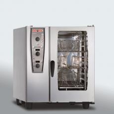 Piec konwekcyjno-parowy elektryczny 6xGN1/1 CombiMaster Plus RATIONAL z wyposażeniem<br />model: B619100.01.202/W<br />producent: Rational