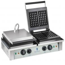 Gofrownica elektryczna podwójna RCWM-4000-E<br />model: 10010315/W<br />producent: Royal Catering