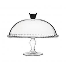 Patera szklana z kloszem<br />model: 545014<br />producent: Pasabahce
