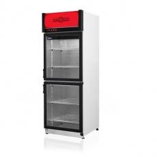 Szafa chłodnicza przeszklona przyścienna z dzielonymi drzwiami<br />model: SCh-S 725/AG/2D<br />producent: Rapa
