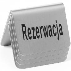 Tabliczka informacyjna REZERWACJA<br />model: 663714<br />producent: Hendi