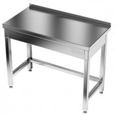 Stół roboczy nierdzewny 100x60x100 cm z wycięciem w lewym rogu<br />model: E1030/1000/600-W<br />producent: M&M Gastro