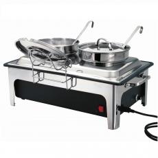 Stacja na zupę elektryczna z 2 kociołkami<br />model: 500840<br />producent: Bartscher