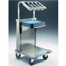 Wózek z ruchomą platformą do tac i nadstawą do sztućców CNB-C<br />model: 2482102<br />producent: Edenox