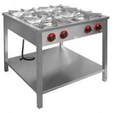Kuchnia gastronomiczna gazowa 4-palnikowa z półką dolną<br />model: TG-425.III<br />producent: Egaz