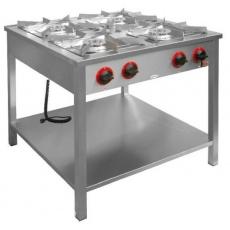 Kuchnia gastronomiczna gazowa 4-palnikowa z półką dolną<br />model: TG-4725.III<br />producent: Egaz