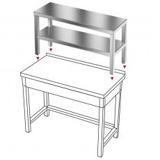 Nadstawka na stół ze stali nierdzewnej<br />model: E1720/1100/300<br />producent: ProfiChef