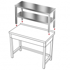 Nadstawka na stół ze stali nierdzewnej<br />model: E1720/1100/300-W<br />producent: M&M Gastro
