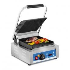 Grill kontaktowy RCKG-2200-GY z wyświetlaczem LED<br />model: 10010574<br />producent: Royal Catering