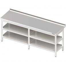 Stół roboczy nierdzewny z dwiema półkami<br />model: 980077270<br />producent: Stalgast