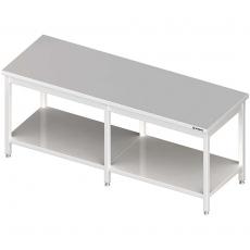 Stół roboczy nierdzewny centralny z półką<br />model: 980118210<br />producent: Stalgast