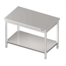 Stół roboczy nierdzewny centralny z półką<br />model: 980107140S<br />producent: Stalgast