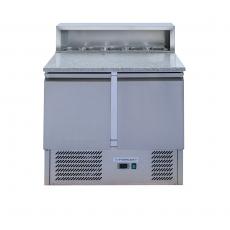 Stół chłodniczy 2-drzwiowy do pizzy z nadstawką<br />model: FG07202<br />producent: Forgast