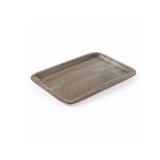 Taca kelnerska z nadrukiem drewna - 508923
