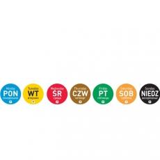 Naklejka FOOD SAFETY jednorazowa - niedziela<br />model: 850060<br />producent: Hendi