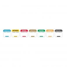 Naklejka FOOD SAFETY wielorazowa - sobota<br />model: 850121<br />producent: Hendi