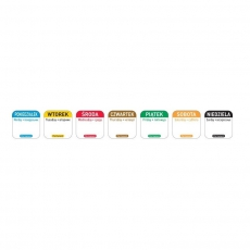 Naklejka FOOD SAFETY wielorazowa - niedziela<br />model: 850138<br />producent: Hendi