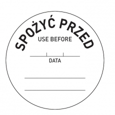 Naklejka FOOD SAFETY - Spożyć przed<br />model: 850145<br />producent: Hendi