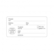 Naklejka FOOD SAFETY - Data przydatności<br />model: 850206<br />producent: Hendi