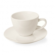 Filiżanka elegancka espresso ze spodkiem porcelanowa CREMA<br />model: 770399<br />producent: Fine Dine