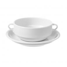 Bulionówka z uszami porcelanowa BIANCO<br />model: 799383<br />producent: Fine Dine