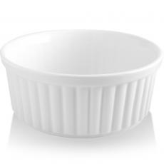 Naczynie do zapiekania okrągłe porcelanowe BIANCO<br />model: 770191<br />producent: Fine Dine