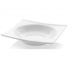 Talerz głęboki kwadratowy porcelanowy BIANCO<br />model: 770030<br />producent: Fine Dine