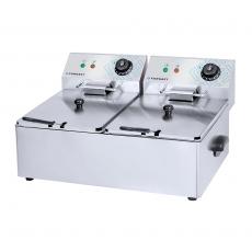 Frytownica elektryczna 2-komorowa 2x8 l<br />model: FG09028<br />producent: Forgast