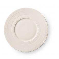Talerz płytki porcelanowy z szerokim rantem MANHATTAN<br />model: 797006<br />producent: Luzerne
