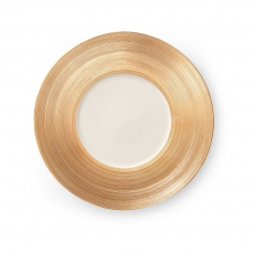 Talerz płytki z szerokim złotym rantem MANHATTAN<br />model: 797396<br />producent: Luzerne