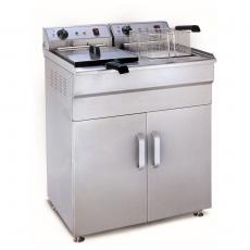 Frytownica elektryczna 2x16L z szafką <br />model: 10010006/W<br />producent: Royal Catering