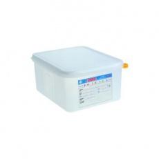Pojemnik GN 1/2 gł. 10 cm z polipropylenu biały<br />model: 162105/W<br />producent: Araven