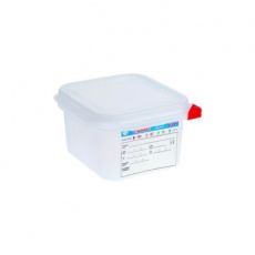 Pojemnik GN 1/6 gł. 10 cm z polipropylenu biały<br />model: 166105/W<br />producent: Araven