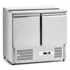 Stół chłodniczy 2-drzwiowy sałatkowy z pokrywą nierdzewną<br />model: FG07422<br />producent: Forgast