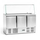 Stół chłodniczy 3-drzwiowy sałatkowy z nadstawką szklaną FG07104