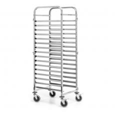 Wózek nierdzewny składany do transportu blach 60x40 cm<br />model: FG01102<br />producent: Forgast