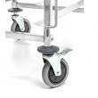 Wózek nierdzewny składany do transportu blach 60x40 cm FG01102