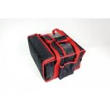 Torba termiczna na pizzę usztywniana - 4 pudełka 35x35 cm / model - T4SU/N