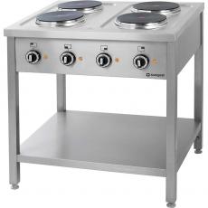 Kuchnia gastronomiczna elektryczna 4-płytowa<br />model: 979500/W<br />producent: Stalgast