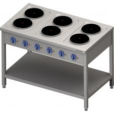 Kuchnia gastronomiczna elektryczna 6-płytowa<br />model: 979600/W<br />producent: Stalgast