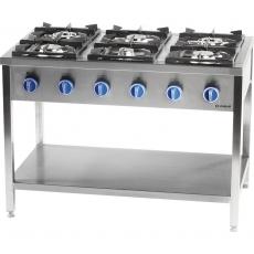 Kuchnia gastronomiczna gazowa 6-palnikowa<br />model: 979623/W<br />producent: Stalgast
