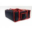 Torba termiczna na pizzę usztywniana - 4 pudełka 50x50 cm / model - T4XLU/N