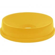 Pokrywa żółta z otworem do pojemnika na odpadki 120 l<br />model: 068145<br />producent: Stalgast