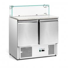 Stół chłodniczy 2-drzwiowy do pizzy z nadstawką szklaną<br />model: FG07222<br />producent: Forgast